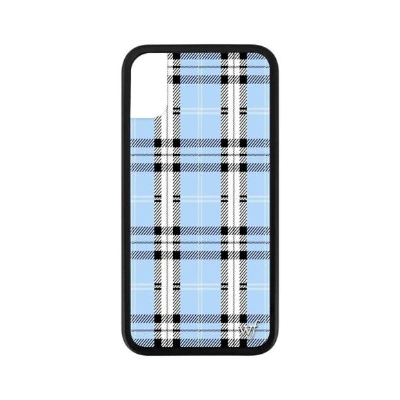 best website 2efd6 a19a0 BLUE PLAID iPHONE X CASE